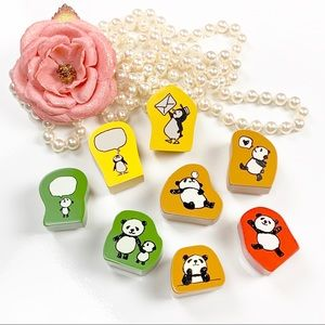 Other - Wood Rubber stamps by KODOMO NO KAO 8pcs